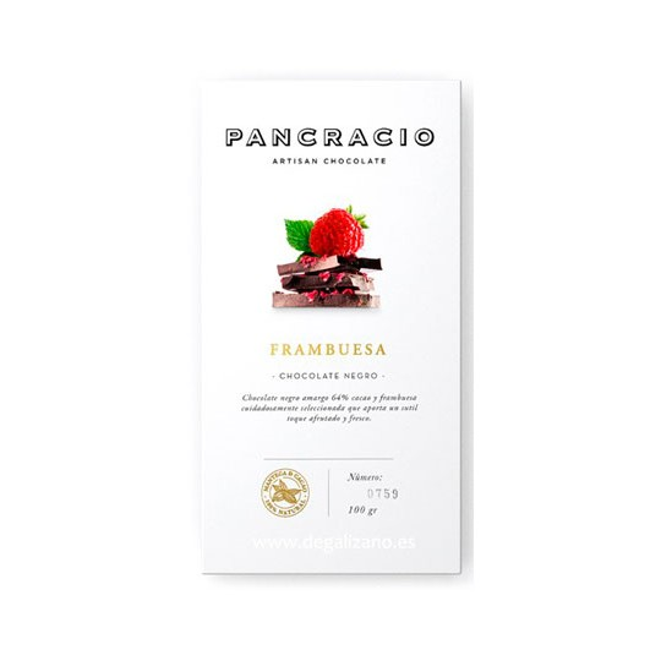 Chocolate PANCRACIO Negro 65% Con Frambuesa 100 grs