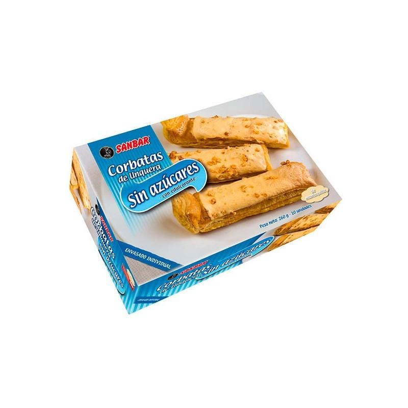 Corbatas de Unquera Sin Azúcar Sanbar 10 unids 260 grs