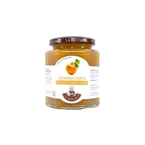 Mermelada de Albaricoque sin azúcar común añadido La Artesana 305grs
