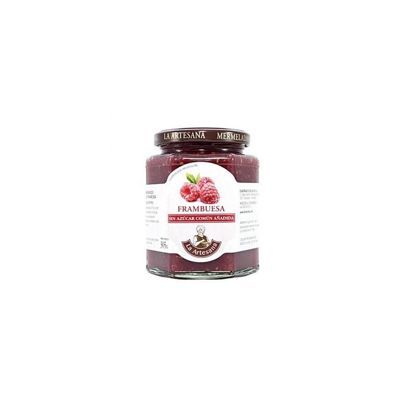 Mermelada de Frambuesa sin azúcar común añadido La Artesana 315grs