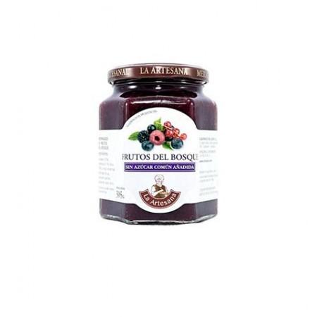 Mermelada de Frutos del Bosque sin azúcar común añadido La Artesana 315grs