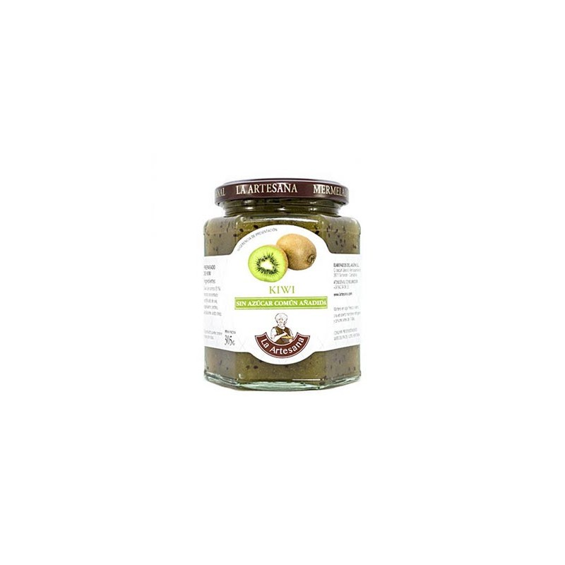 Mermelada de Kiwi sin azúcar común añadido La Artesana 315grs