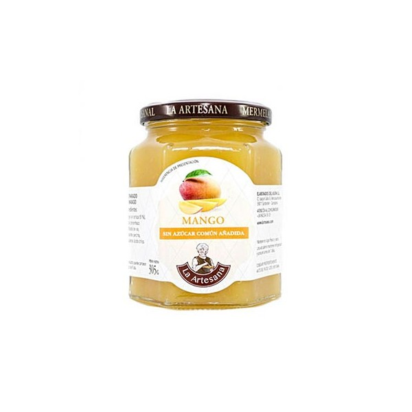 Mermelada de Mango sin azúcar común añadido La Artesana 315grs