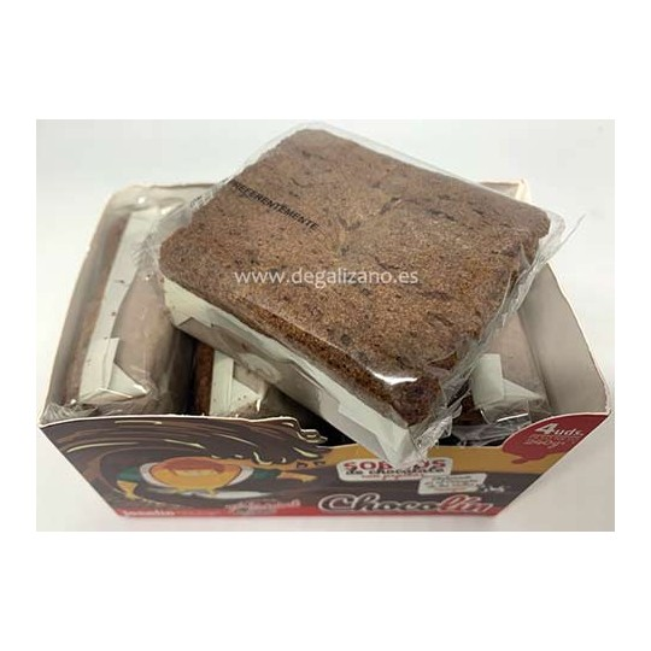 Sobaos de Chocolate con pepitas Chocolín de Joselin 4 uds 240grs