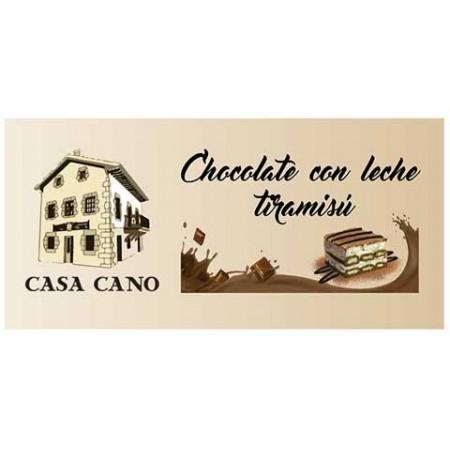 Chocolate con Leche Artesano sabor Tiramisú Casa Cano 125 grs