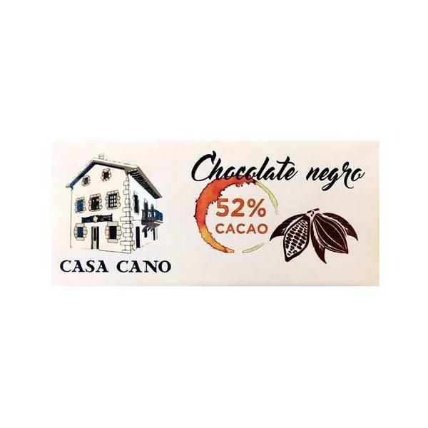 Chocolate Negro 52% Artesano Casa Cano 125 grs