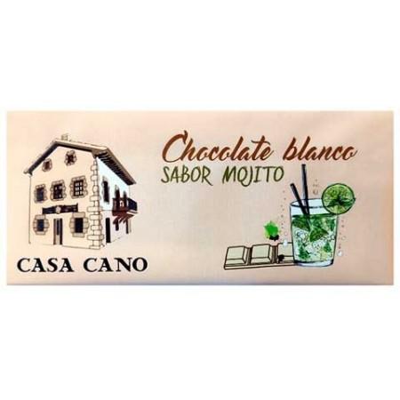 Chocolate Blanco Artesano sabor Mojito Casa Cano 125 grs