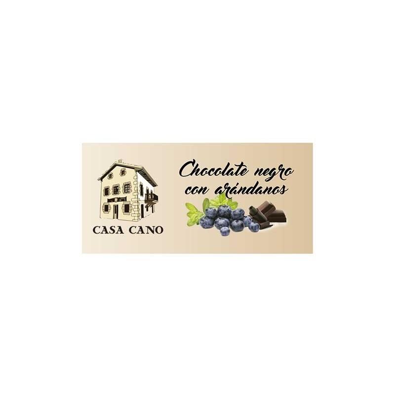 Chocolate Negro Artesano Sabor Arandanos Casa Cano 125 grs