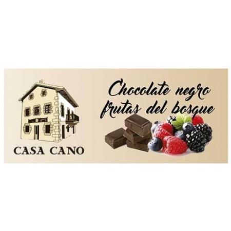 Chocolate Negro Artesano sabor frutas del Bosque Casa Cano 125 grs