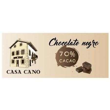 Chocolate Negro Artesano 70% Casa Cano 125 grs