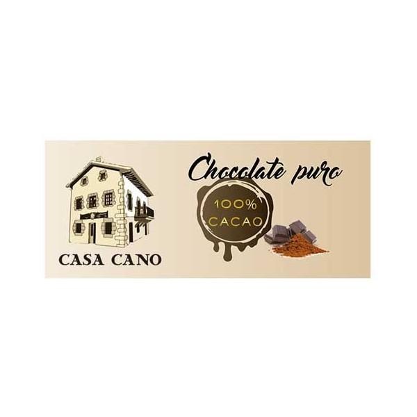Chocolate Negro 100% Cacao Casa Cano 125 grs