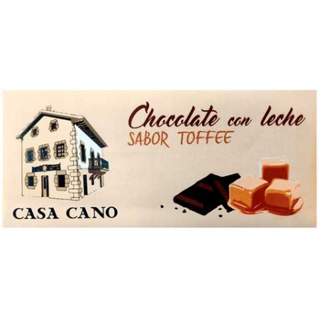 Chocolate con Leche Sabor Toffee Casa Cano 125 grs