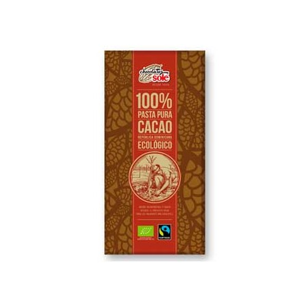 Chocolate ecológico 100% cacao Solé 100 grs